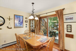 Dining room with walkout to back patio