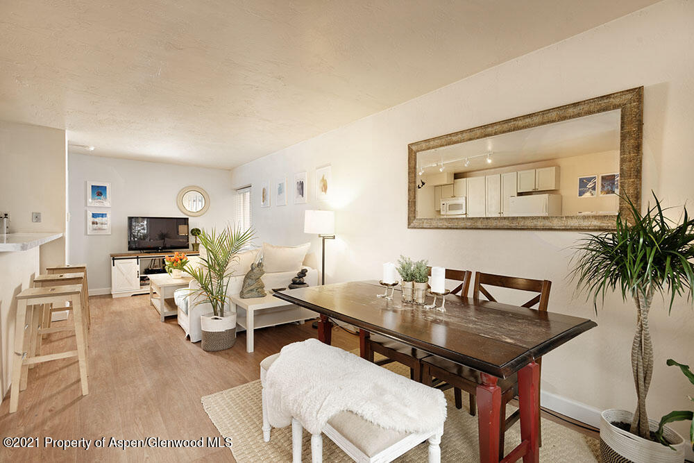 Spacious 1 bedroom condo with 1.5 baths located in the core of Aspen, less than 2 blocks to the gondola. The property has ample opportunity for upgrades yet is very livable in its current condition with plenty of square footage for a range of living configurations. Existing features of the unit include washer/drying inside the condo, lots of storage space, a bedroom that easily accommodates a king sized bed and an extra 1/2 bathroom. Given the convenient location to everything that Aspen has to offer, this downtown condo is a perfect opportunity for the person who wants to be in the heart of it all!