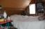 Loft bedroom, furnished