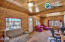 Tongue and groove really make this Alaskan home 'pop.'