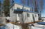 Cabin is clean with easy maintenance vinyl siding and steel roof
