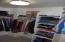 Master Suite closet has nice built-in organizers