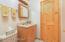 1/2 bath by kitchen downstairs