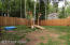 This is the dog area, a separately fenced smaller area of the entire back yard.