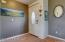Main Entry to home with coat closet to the left.
