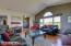 Living area to entry with Talkeetna Mountain views looking Northwest.
