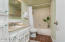 Updated bathroom with granite countertop
