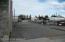 East end of building - parking lot.