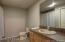 Finished Bathroom in walk out basement.