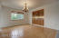 Formal Dining with a custom built in cabinets