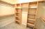 HUGE Walk-in Closet w/shelving