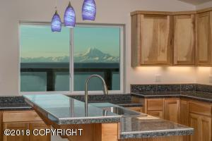 View of Mt Redoubt from the Kitchen