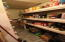 A large pantry downstairs