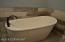 Deep soaker tub.