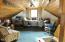 Large loft above living area currently used as an office...