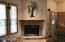 Corner gas fireplace to take the chill off during the snowy winter months or romantic nights!