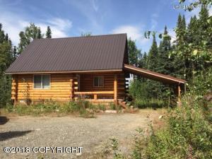 Cozy log cabin in Alaskan woods