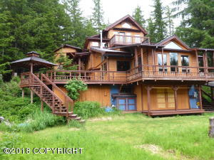 Custom cedar home with walk-in access.