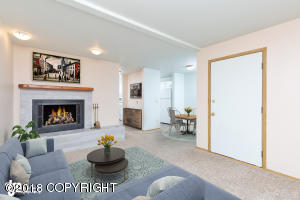 Space can easily be configured to seat guests and utilize fireplace, while maintaining open feel. Please note, will not be staged for showings.