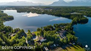 Aerial view of property. Wasilla Lake
