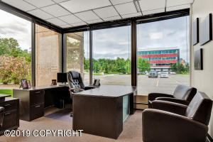 Furnished exterior office.