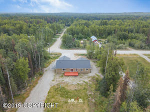 Rear aerial of property