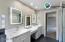 PHOTO SIMILAR-owner's bathroom w/built in makeup & personal care vanity.