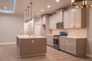 """42"""" Upper cabinets with crown moulding."""