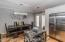 Open kitchen/dining area & patio door to back patio makes entertaining easy!