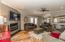 Open kitchen/living/dining