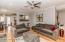 Living area accommodates large furniture!