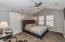 Spacious master bedroom with vaulted ceiling!