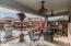 Covered patio with designer fans!