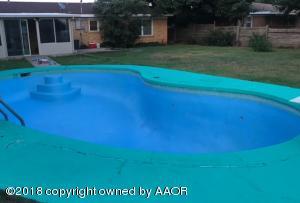 Freshly painted pool
