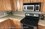 Stainless electric stove & microwave