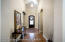 Entry way with gorgeous decorative ceiling