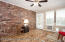 Beautiful wood look tile floor and air conditioned