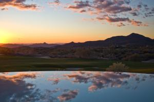 Outstanding golf course views over negative edge pool