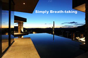 This Negative Edge Pool offers Views That Are As Good As It Gets All The Way To Camelback Mountain & Beyond