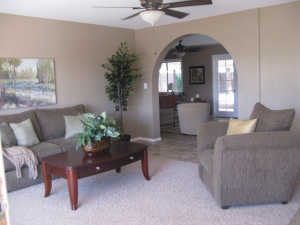 Arch Way into Family Room