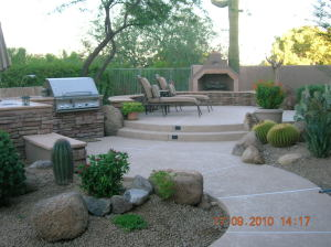 BBQ and Fireplace