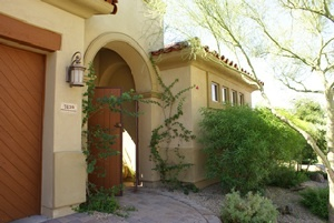 GORGEOUS EXTERIOR GATED ENTRY TO COURTYARD