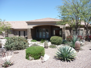 Front View in Gated Boulder Ridge