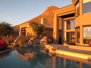 Pool & Mountain views from backyard