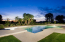 Oversized diving pool and spa provide great fun!