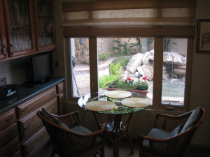KITCHEN NOOK OVER LOOKING POND