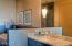 Spacious Master Bath/Split Vanities with Convenient make-up Area
