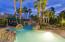Pool with swim up bar.