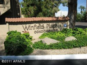 West entry to Winfield Place