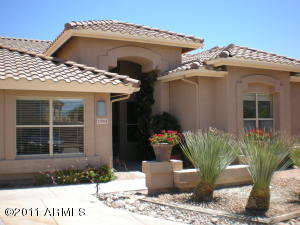 Beautiful desert landscaping in front and back